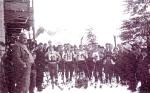 Skirennen mit Start vor dem Sonklarhof! (Bild dürfte ca.1920 entstanden sein)
